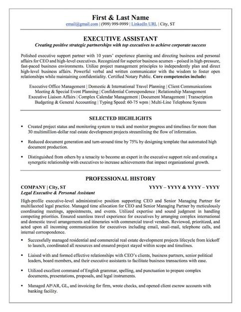 Sample Of Notary Public On Resume